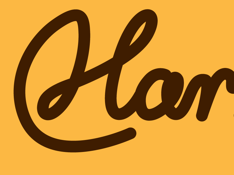 H-logo vectorised vector h logo identity script lettering design graphics wip