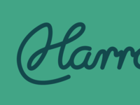 H logo refinements h logo illustrator flat simple script lettering identity