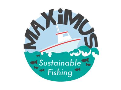 Maximus Rough 1 rough logo wip design branding fish sustainable graphics simple cartoon