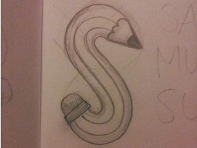Pencil pencil logo rough wip design identity branding