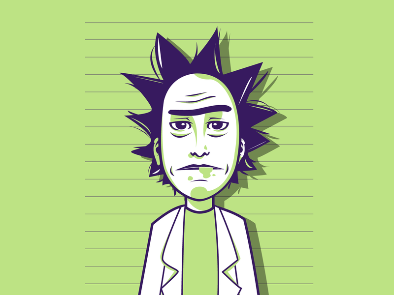Rick and Morty series netflix rickandmorty dribbble vector shot portrait illustrator illustration graphic design flat design character design adobe illustrator