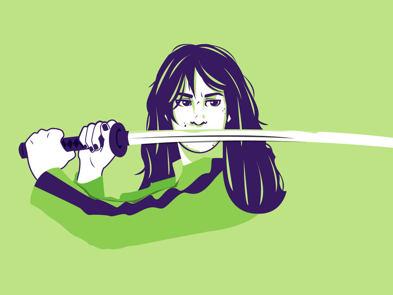 Kill Bill - Character illustration the bride beatrix kiddo uma thurman kill bill dribbble portrait art vector shot portrait illustrator illustration graphic design flat design character design adobe illustrator