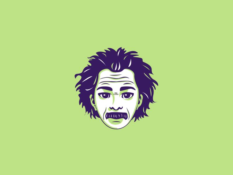 Albert Einstein e=mc2 relativity scientist einstein albert einstein portrait art dribbble vector portrait illustrator illustration flat character design adobe illustrator shot graphic design design