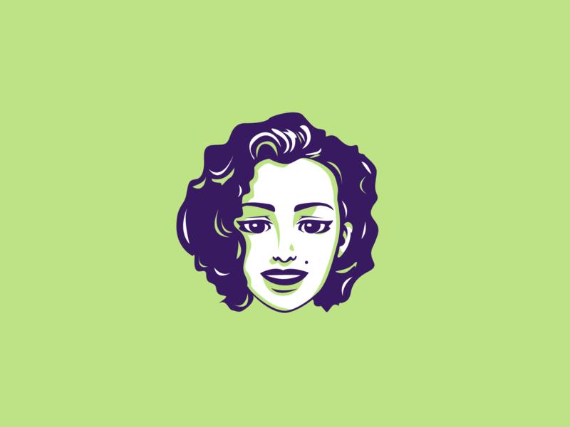 Marilyn Monroe mith actress american neo marilyn monroe artist purple green portrait art portrait character design dribbble vector illustrator illustration flat adobe illustrator shot graphic design design