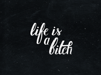 Life is a bitch.