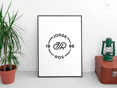 JR project monogram branding project identity mark stroke ros mockup brand logo icon jorge ros
