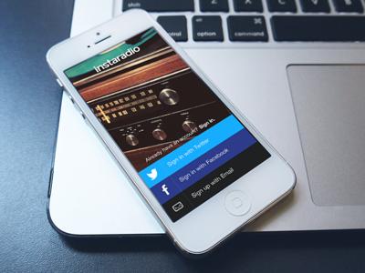 Happy new year from Instaradio 🎄 ios7 app ui radio stations social instaradio