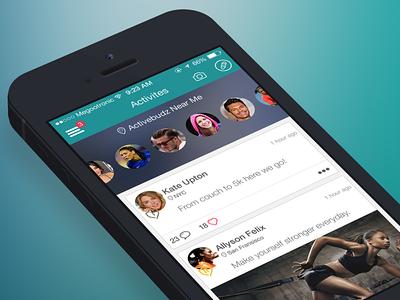 Activities 🎿 ios7 app ui activities sports friends white teal