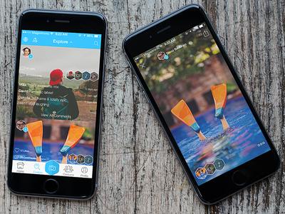 Exploreee explore social ui ux app design ios