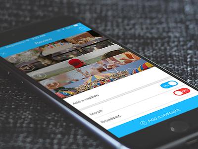 Collage visual messages social ui ux app design ios