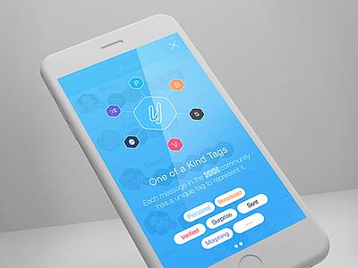 Tags visual tags social ui ux app design ios