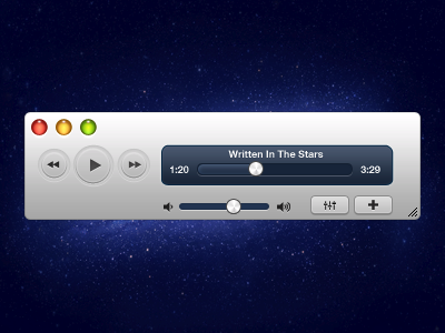 Media Player meida player ui. white freebies music sliders buttons photoshop