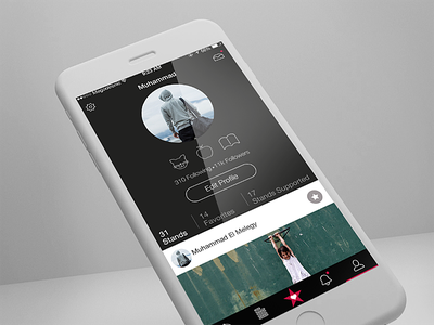 Profile stand profile causes charity social ui ux app design ios