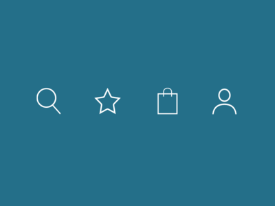 Nav Icons zalando nav line icons shopping ecommerce icons
