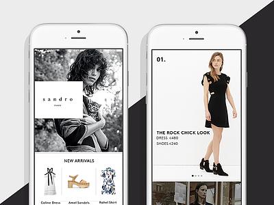 Premium update brands curation ux ui fashion design e-commerce apps ios