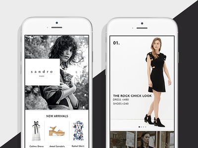 Premium update brands curation ux ui fashion design e-commerce apps ios