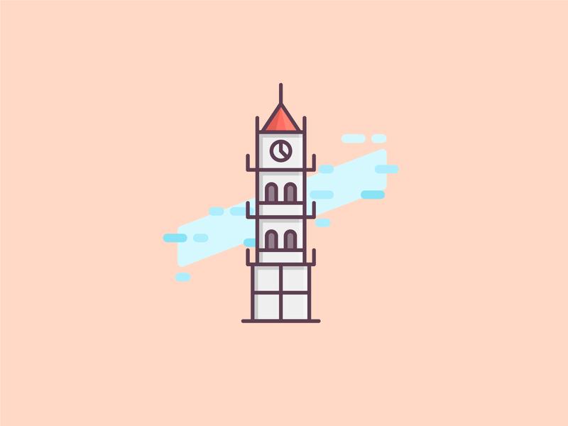 Sucre Landmarks art icon illustrator flat minimal vector design logo illustration
