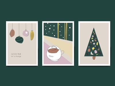 Christmas postcards for Manufacturing cafe