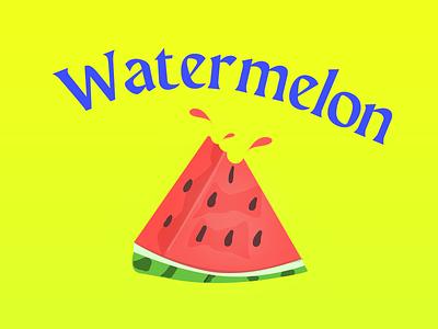 Watermelon illustration art art vector illustration design