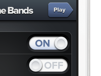 iPhone app iphone ui user interface toggle switch on off dark