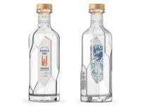 Source One Vodka Interior Label Illustration