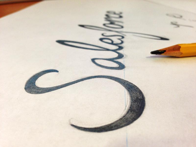 Salesforce lettering doodle