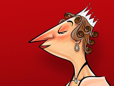 Queen Elizabeth II (1950's) illustration old