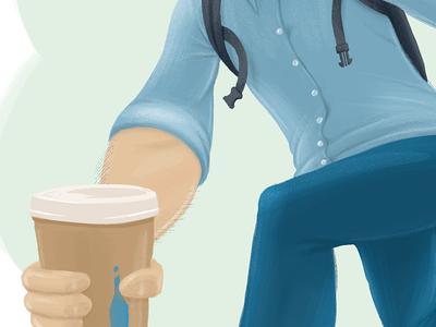eli illustration coffee hipster