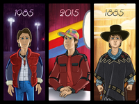 Back to the Future day, October 21st, 2015 back to the future illustration