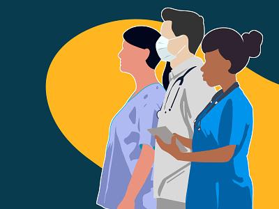 A Time for Nurses first drawing illustration hospitals hospital covid-19 coronavirus heroes nurse doctors doctor nurses quarantine covid
