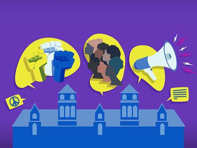 Social Impact in Universities impact social social justice draw design art designs illustration digital illustration art vector designer illustration design branding illustrations university drawing design illustration