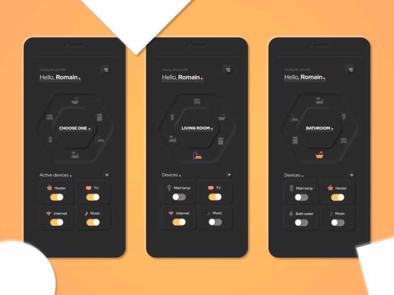Mobile app - Neumorphism Smart Home