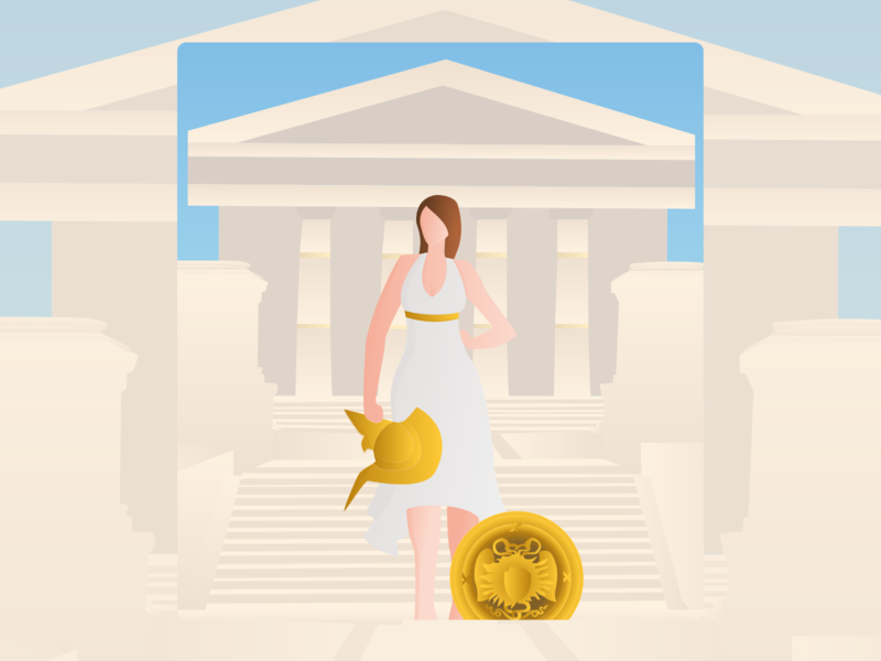 Athena - Illustration - Mythic App mythology goddess greek wisdom illustrations