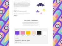 Web Design - Case study - Marty's Inc. hoverboard illustrations case study retro saturation colors illustration