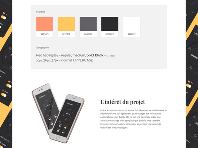 Web Design - Case study - Smart Home typography case study colors dark mode neumorphism