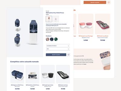 Web design - E-commerce website testimonial product page product bottle shop e-commerce