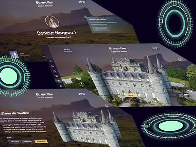 Interactive Glasses - Autonomous Car glasses glassy glass halo neon discovery history 2035 future smart devices smart car autonomous car
