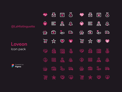 Web design - Iconography heart red colors neon icon design iconography icon set icons icon