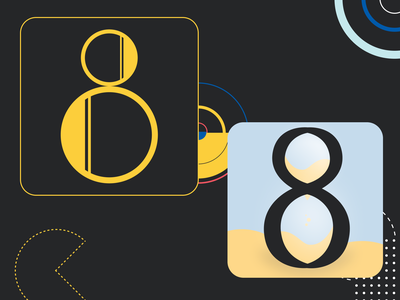 36 days of type - (H)eight. hourglass sands shapes shape yellow gold eight