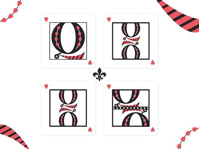 36 days of type - Queen of your heart symetry tie heart queen of hearts queen
