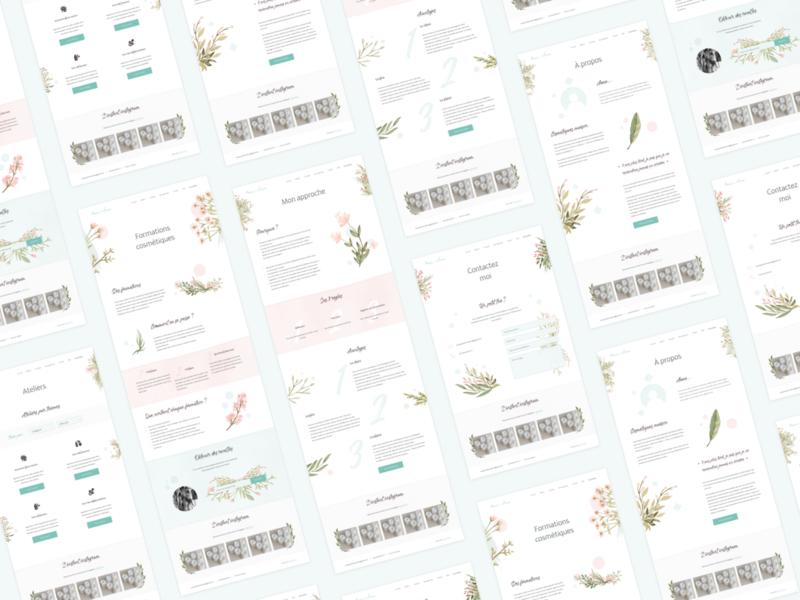 Web design - Anne & Sens