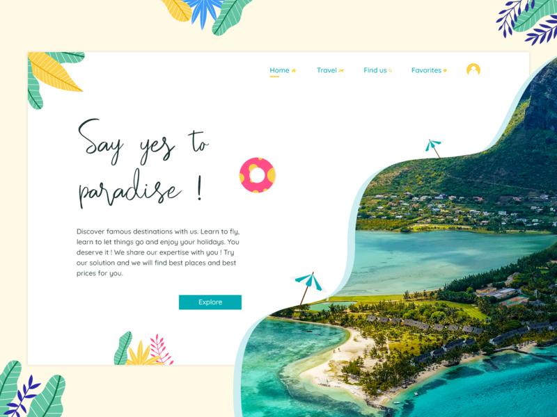 Web design - Travel agency
