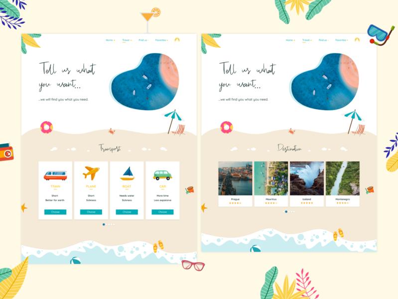 Web design - Travel Agency (transport & destination)