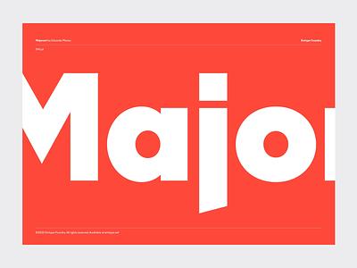 Majorant PDF black red free trials free new release emtype design barcelona typography type sans new font new geometric font