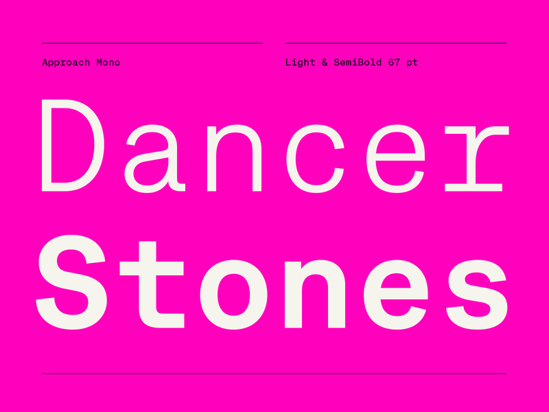 Exclusive at Emtype monospaced monospace black pink free trials free new release emtype design barcelona typography type sans new font font