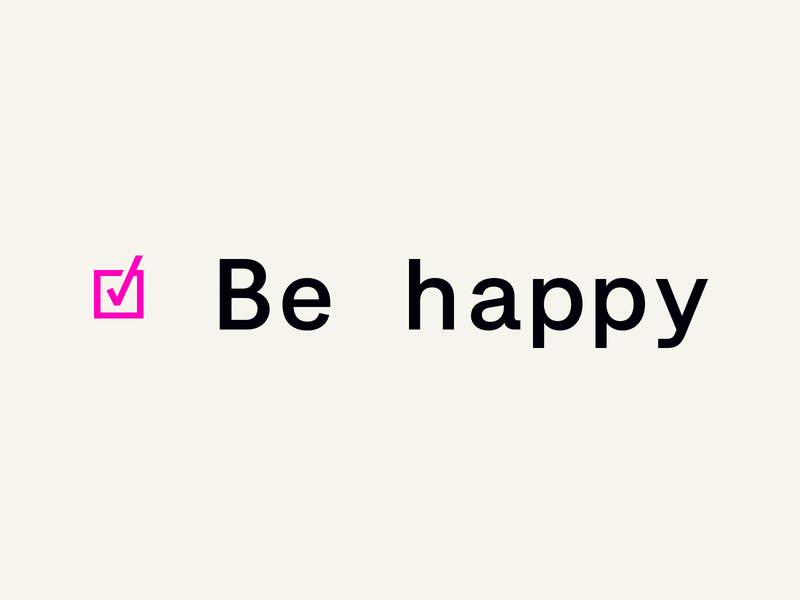 ☑ Be happy monospaced monospace black pink free trials free new release emtype design barcelona typography type sans new font font