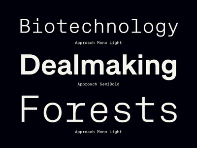 Approach & Approach Mono monospaced monospace black pink free trials free new release emtype design barcelona typography type sans new font font