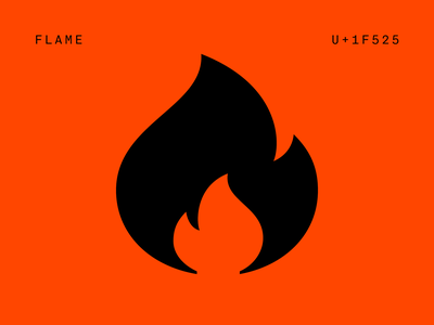 WIP poo diamond fire flame pictograms type typography font