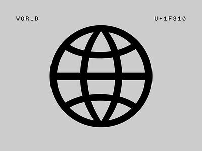 wip II umbrella airplane plane world pictograms illustration logo type font