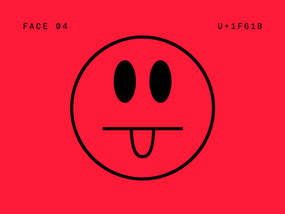Faces II font wip logo ui branding vector ux icon tongue faces eyes face mouth